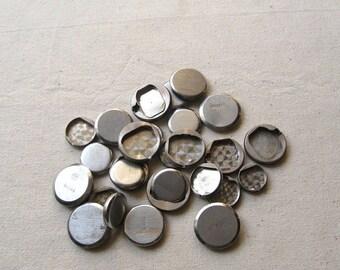 20% Off Sale 14 Assorted Watch Backs, Vintage Watch Parts, Steam Punk Supplies, Round Watch Back, Steel Watch Back, Steampunk Watch Back