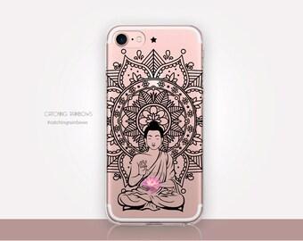 Transparent Buddha Phone Case - Transparent Case - Clear Case - Transparent iPhone 7 - Clear iPhone 7 Plus - Gel Case - Soft TPU - iPhone SE