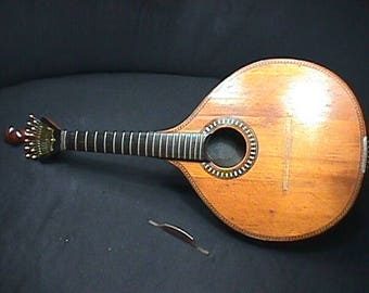 Antique Solid Wood Giannini Craviola Tranquillo Twelve String Coimbra Style Portuguese Guitar as-is