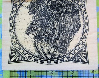 framed lions head by taylored artwork
