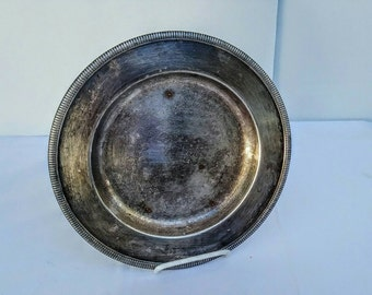 "Dinner Plate Silverplated WM Rogers Mfg. Co. 10 1/4"" round dinner plate Cottage decor"