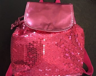 """Hot Pink Sequin Small Backpack - 11x11"""""""