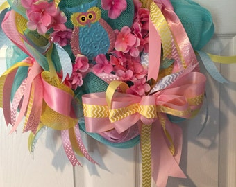 Adorable Owl Wreath
