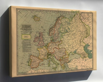Canvas 24x36; Map Of Europe 1897