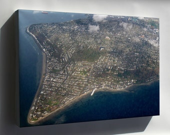 Canvas 24x36; Aerial View Of Alki Point 1