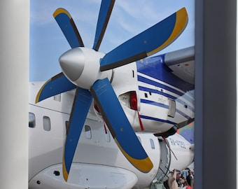 Canvas 24x36; Propeller Of The Antonov An-140-100