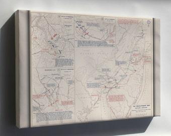 Canvas 24x36; Map Of Revolutionary War Pennsylvania New Jersey