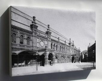 Canvas 16x24; Berlin Friedrichstrasse Railway Train Station 1885