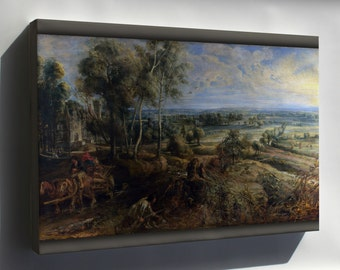 Canvas 16x24; 2100 A View Of Het Steen In The Early Morning By Peter Paul Rubens 1636