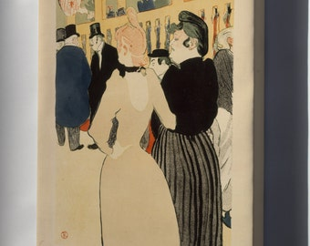 Canvas 16x24; Henri De Toulouse Lautrec, At The Moulin Rouge La Goulue And Her Sister, 1892 Metropolitan Museum Of Art