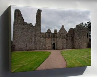 Canvas 16x24; Front Entrance Of Tolquhon Castle