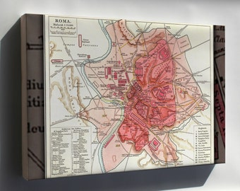 Canvas 16x24; Map Of Rome During Antiquity