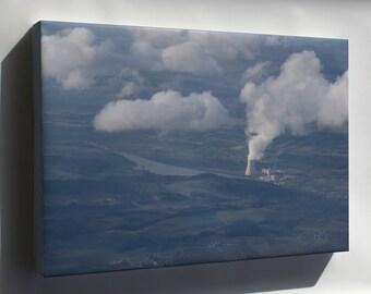 Canvas 16x24; Isar Kernkraftwerk Nuclear Power Plant 2