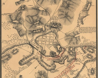 16x24 Poster; Battlefield Map Of Franklin, Tennessee