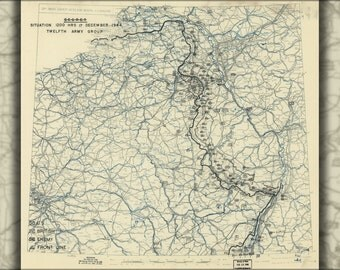 16x24 Poster; Map Dec 17, 1944 Battle Of The Bulge