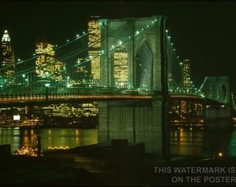 16x24 Poster; Brooklyn Bridge C1982