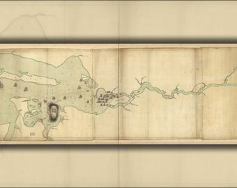 16x24 Poster; Map Of Penobscot River And Bay Maine 1779