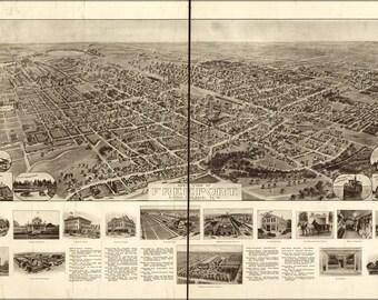 16x24 Poster; Aero View Map Of Freeport, Long Island, New York 1909