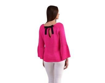 sweater BOW | Fuchsia