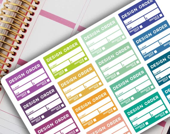 design order planner stickers from papercutdesignco on With design and order stickers