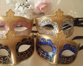 Masquerade Mask, Venetian Mask Decorations, Gold Mask Favors, Masquerade Party Decor, Masquerade Party, Venetian Mask,  Weddings Masquerades