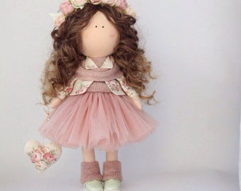 Doll. Fabric doll. Textil doll. Puppe