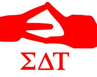 Sigma Delta Tau hand Symbol SVG