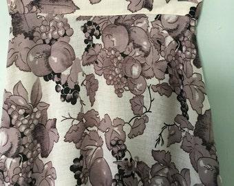 Vintage Skirt/Fruit Motif/1970s