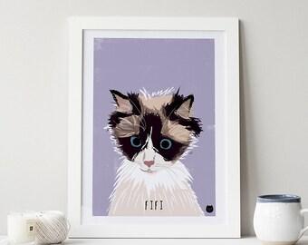 Bespoke Custom Cat Portrait