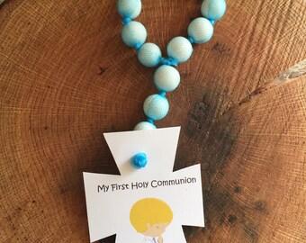 Edible gumball rosary First Communion favor Rosarios de chicle Recuerdo De Primera Comunion y Bautizo