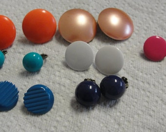 Lot of Round Clip Earrings
