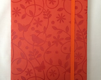 A5 Orange Birds and Butterfly Note Book