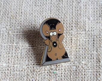 Mouse Pin, hat pin, Vintage metal pin
