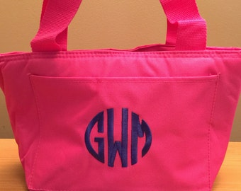 Monogrammed Lunch Tote - Personalized Lunch - Monogrammed Lunchbox Cooler - School Personalized Lunch - Insulated Kids Lunch