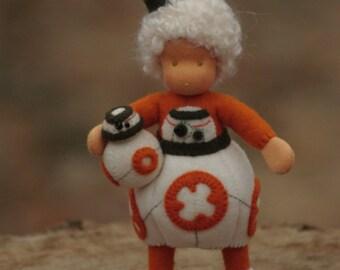 The BB-8 girl waldorf doll// Star Wars // BB8