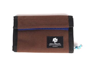 Chocolate Cordura Wallet with velcro closure