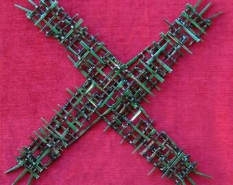 St Brigid's Cross Brutalist Wall Sculpture