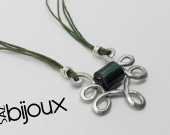 Pendelleuchte Aluminium gemeißelt dunkel grünen gotischen Halskette