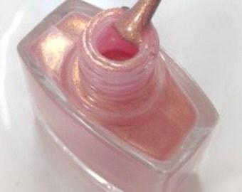 Nail Polish- Nail Lacquer- Gold Nail Polish- Pink Nail Polish- 5 Free Nail Polish- Rose Gold