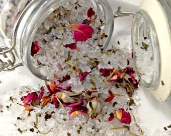 Bath Tea- Bath Salts- Herbal Bath Tea- Essential Oil- Holiday Gift- Gift Ideas- Rose Mint Rosemary