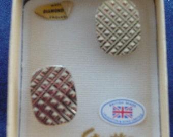 Stratton 1960s Cuff Links - Diamond Cut