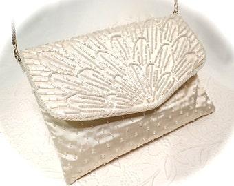 Vintage Beaded Evening Bag Vintage Bridal Purses Vintage Accessories VH-107