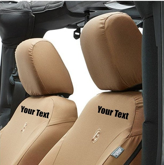custom personalized jeep wrangler seat covers front seats. Black Bedroom Furniture Sets. Home Design Ideas