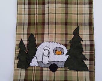 Kitchen Camper Towel - kitchen tea towel - camper towel - camper tea towel - camper kitchen towel - applique camper towel