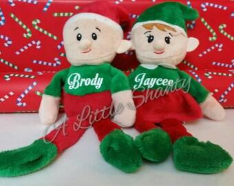 Personalized Christmas Elf, Santa's Helper, Stocking Stuffer, Christmas Plush, Christmas Toy, Personalized Elf,Christmas Elf,Christmas Decor