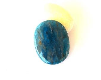 Blue Apatite natural stone cabochon  31 x 25 x 5 mm
