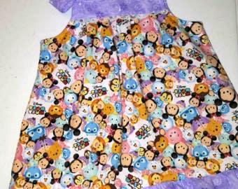 Girls Tsum Tsum Birthday Dress, Tsum Tsum Dress, Disney Tsum Tsum Outfit, Summer Picnic Dress, Dumbo Tsum Tsum, Baby Disney Dress
