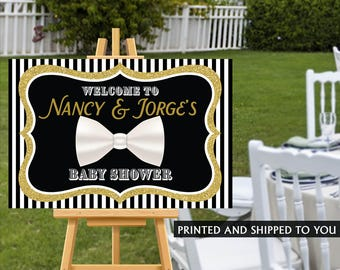 Welcome to the Party Sign, Little Man Welcome Sign, Baby Shower Welcome Sign, Personalized Welcome Sign, Bow Tie Foam Board Sign,