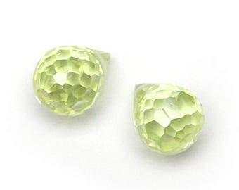 Water Drops Cubic Zirconia  7 * 9 Lt.Olivine [3 Pieces]