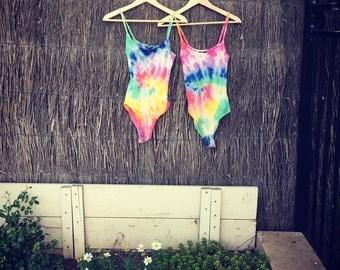 Rainbow tie dye bodysuits